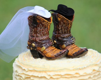 Western Boot Cake Topper  -  shabby chic, outdoor, cottage chic