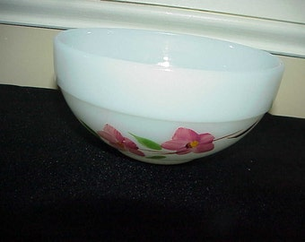 """Fire King Gay Fad Peach Blossom 6"""" Bowl NEVER USED"""