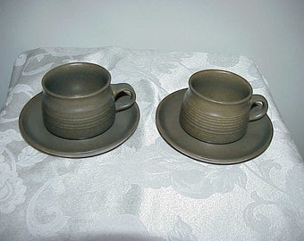 2 Denby Langley Sherwood Cups & Saucers NEVER USED