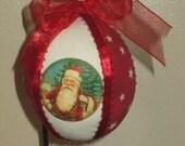 Handmade Victorian Santa Christmas Ornament