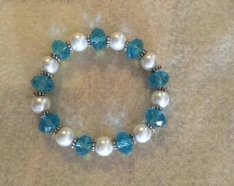 CLEARANCE Cinderella Blue Crystal Stretch Bracelet