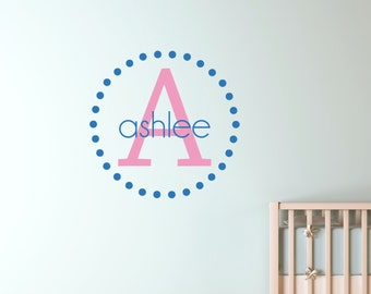 Vinyl Wall Names - Child Name Wall Decal - Child's Name Wall Art 0043