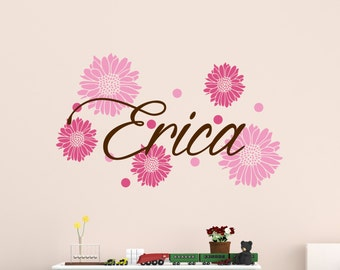 Wall Name Sticker - Child Name Wall Decal - Child's Name Wall Art 0044