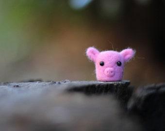 Needle Felted Pig, Pig Plush, Wool Felt Animals, Needle Felted Animal, Pig Sculpture, Pig Miniature, Soft Sculpture Animal, Pig Figurine