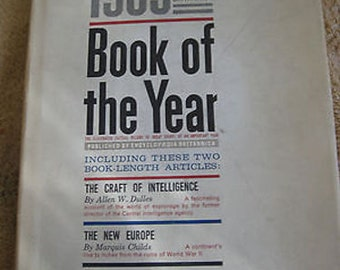 1963 Edition of Britannica  Book of the Year X5