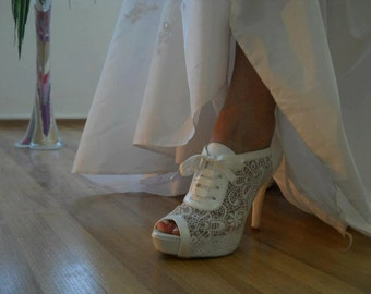 LACE Wedding shoes   #8445