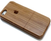 Iphone 6 PLUS case wood - wooden iphone 6 PLUS case walnut, cherry or bamboo wood - Apple logo