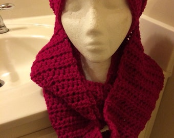 Crochet hat and scarft set