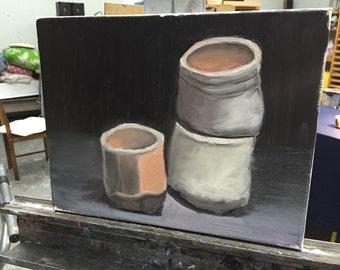 3 ceramic jars