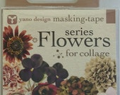 Japanese Washi Tape Yano Design Masking Tape Flowers  for Collage Series - Brown, Round top Washi Tape wholesale