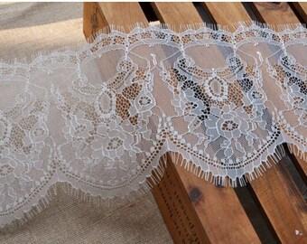 chantilly lace trim, bridal lace trim