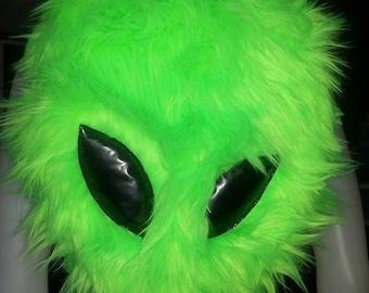 Alien UV Fur backpack bag festival burning man edc