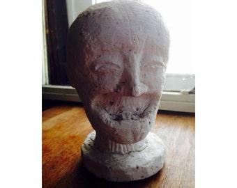 Creepy Soft Plaster Head