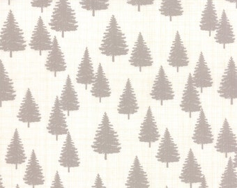 Moda Winterberry Winter Forest in Snow Stone (13143 11) - Kate and Birdie Paper Co - 1 yard