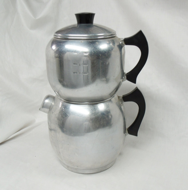 Vintage 18 Cup Aluminum West Bend Kwik Drip Coffee Maker Stove