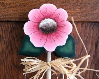 Spring Flower Plant Stick - Wood Garden Decoration