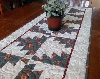 Quilted Tablerunner Made with Civil War Era Reproduction Fabrics