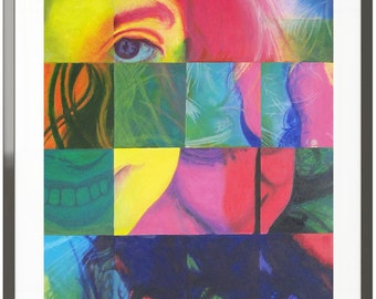 Avant Garde art print, Modern Art print, Giclee Print, new art.