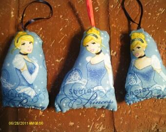 Cinderella Pillow Ornament Set of 3