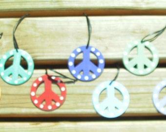 Peace Symbol Wooden Ornament