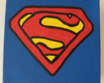 """DC Superman Canvas Picture 4""""x4"""""""