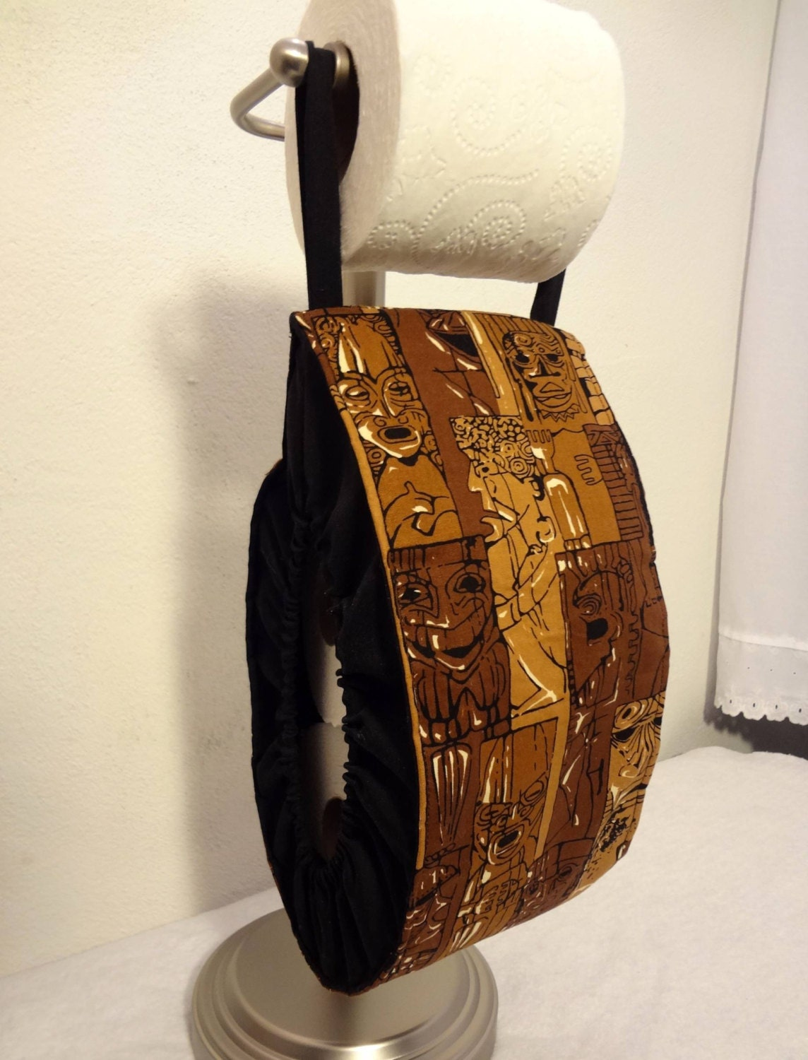 Man Cave Pillow With Cup Holder : Toilet paper holder man cave bathroom decor tiki