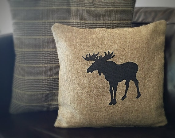 Moose Crossing Pillow Case by AMorbidTale on Etsy