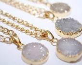 Mini Druzy Gold Necklace Druzy Necklace