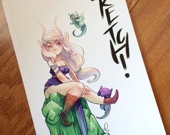 Sketch! A full color collectable sketchbook *SIGNED*