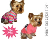 Dog Tee Shirt Pattern 1764 * Bundle All Sizes * Dog Clothes Sewing Pattern * Dog T Shirt * Dog Shirt Pattern * Dog Apparel * Dog Clothing