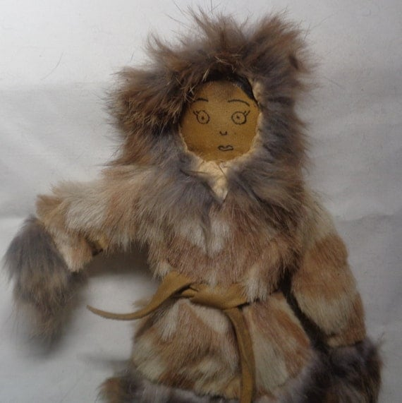 Vintage Inuit Eskimo Yupik Alaskan DOLL About 8 By MANITOUARTS