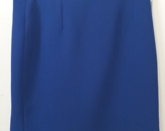 Vintage 1980 Royal Blue Mini Skirt- Jorge Daza