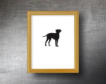 Dalmatian Silhouette Art 8x10 - Hand Cut Dalmatian Print - Personalized Name or Text Optional