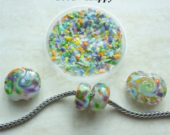 1001 Happy - Glass Frit Blend - K1 - COE 92-96 (can be used on glass with COE 90 till 104) - 25 gr - Sra