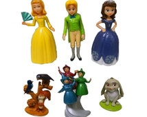 Sofia the First CAKE TOPPER Clover Amber James Fairies 6 Figure Set Birthday Party Cupcakes Figurines Disney * FAST Shipping * Sophia