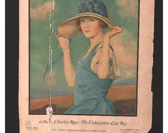 Vintage Magazine Cover - Ladies Home Journal July, 1924   (980)