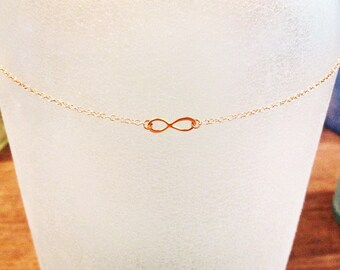 24kt Gold Dipped Infinity Necklace