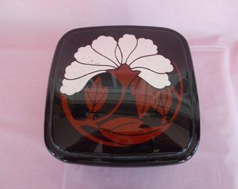Vintage Black Ultina Powder Box