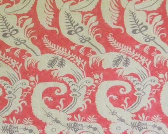 "Linen Print ""Nantucket"" Fabric Drapery Panels"