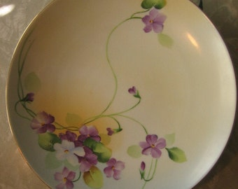 Vintage Hand painted Nippon Pansy Floral Flower Plate