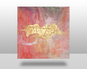 Original Pink & Gold Abstract Painting
