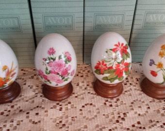 Gifts of Nature Porcelain Egg Collection Vintage