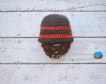 Baby Beard, Baby Beard Hat, Beard Hat, Crochet Hat Baby,Crochet Hat Lumberjack, Lumberjack Baby Shower, Lumberjack Nursery, Lumberjack Party