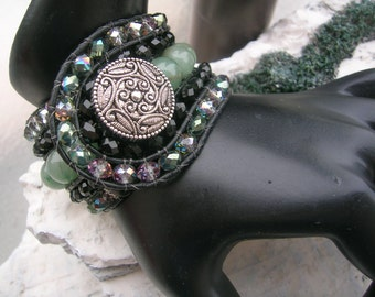 5 Row new jade cuff bracelet