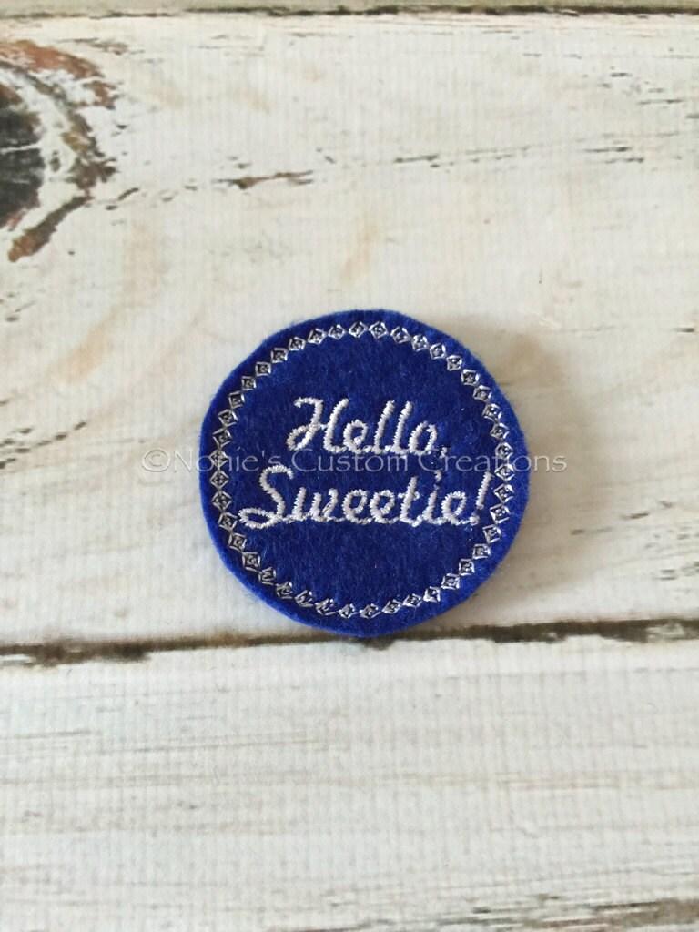Hello Whello Wgo To Www Bing Com: Doctor Who Inspired Hello Sweetie Embroidery Design Feltie
