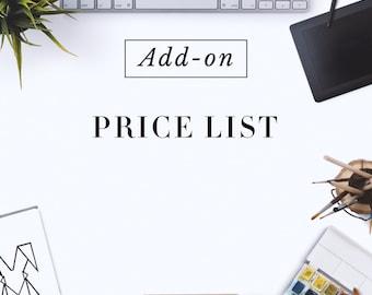 Custom made Price List Design
