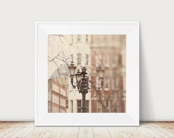 london photograph london print london decor english decor cream wall decor street lamp photograph architecture photograph