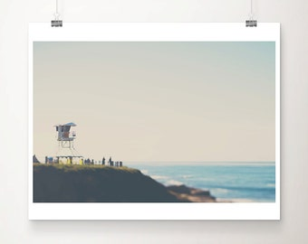 ocean photograph san diego photograph la jolla photograph california photograph life guard tower photograph california print