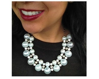 Chunky Pearl Statement Necklace