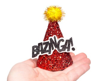 Comic Book Party Hats Bam, Pow, Bazinga, Zoom, Boom Comic Book Expressions MINIATURE Party Hat